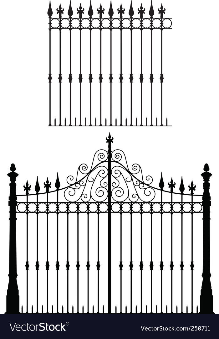 Gate and fences vector | Price: 1 Credit (USD $1)