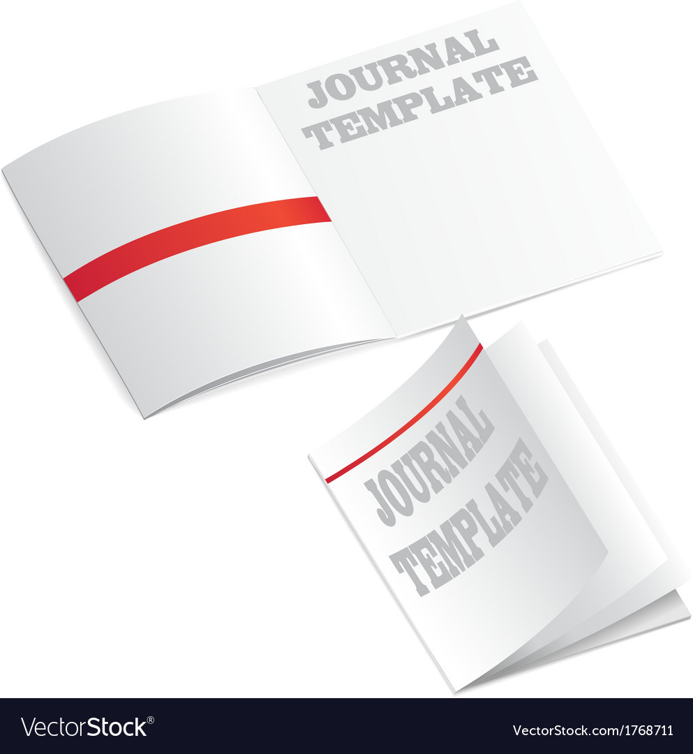 Journal template vector | Price: 1 Credit (USD $1)