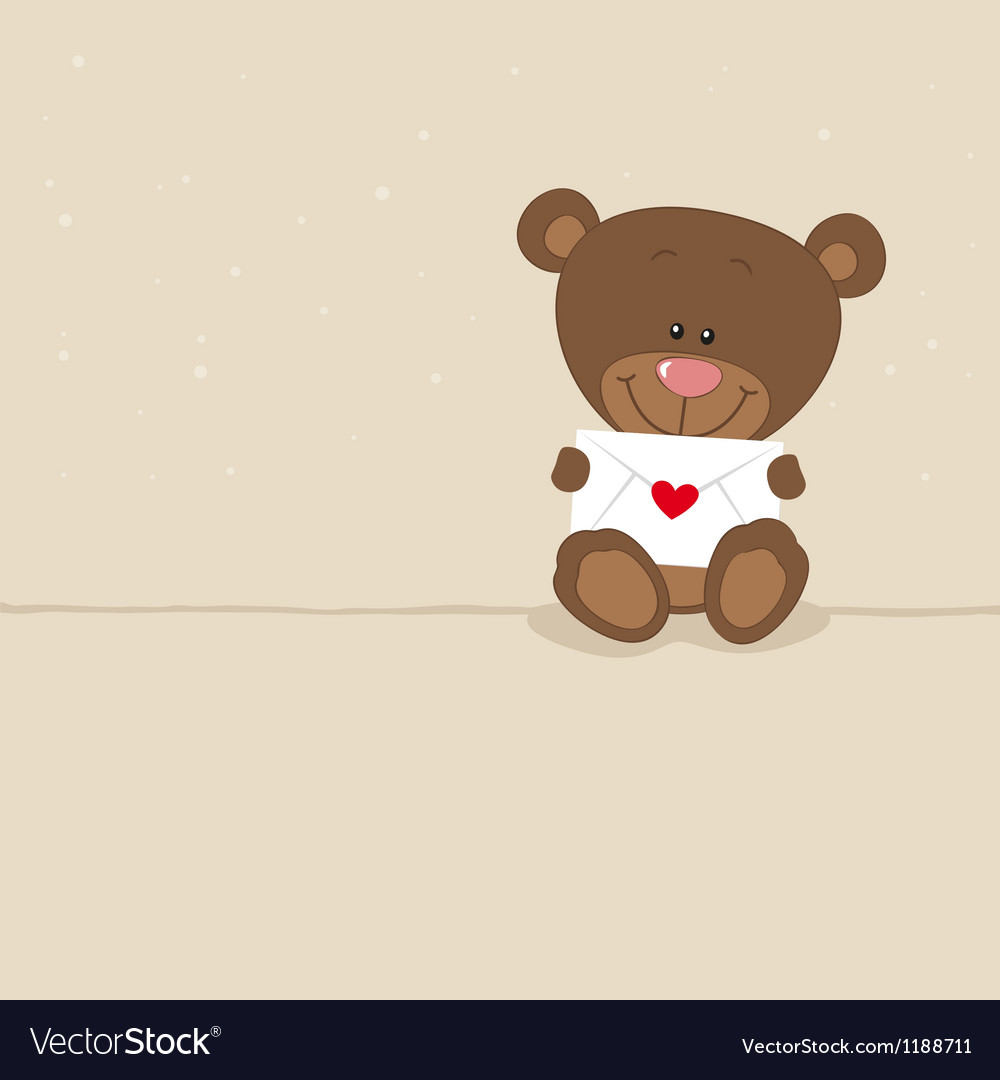 Love bear with love letter vector | Price: 3 Credit (USD $3)