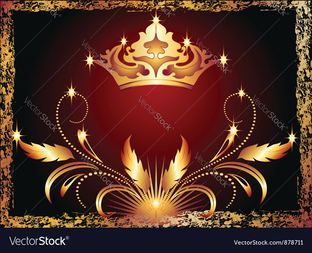 Luxurious copper ornament and crown vector | Price: 1 Credit (USD $1)