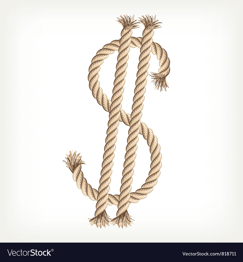 Rope dollar vector | Price: 1 Credit (USD $1)