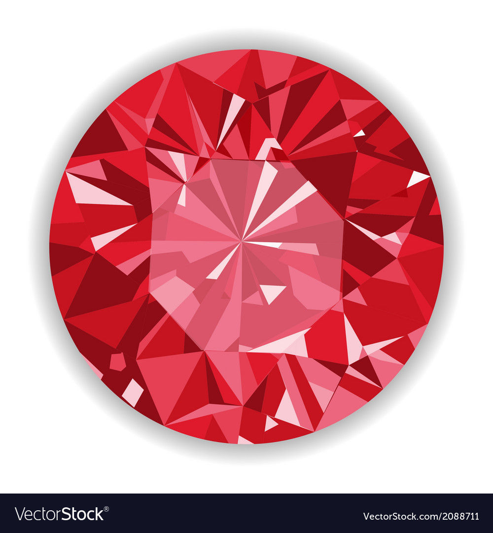Ruby or rodolite gemstone with shape vector | Price: 1 Credit (USD $1)