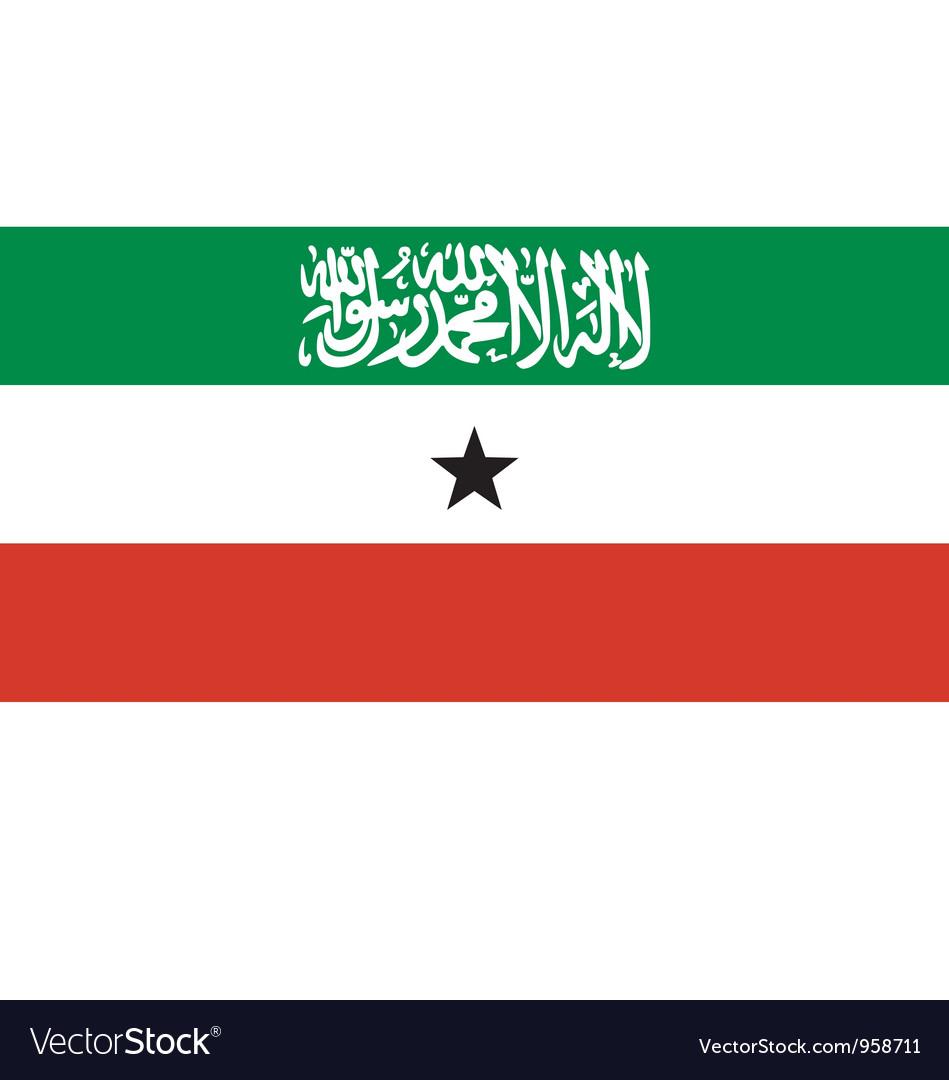 Somaliland flag vector | Price: 1 Credit (USD $1)