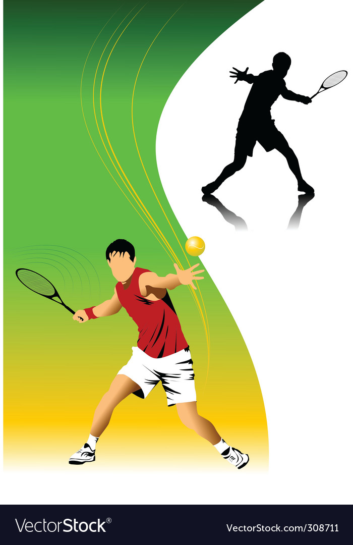 Tennis background vector | Price: 3 Credit (USD $3)