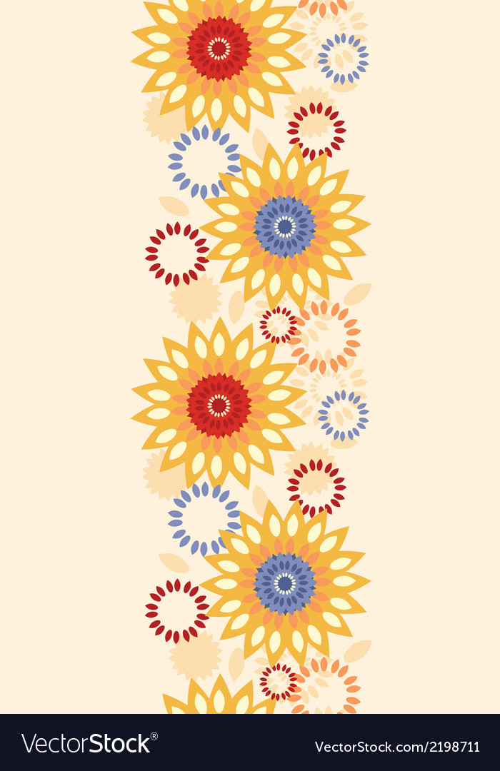 Warm vibrant floral abstract vertical seamless vector | Price: 1 Credit (USD $1)