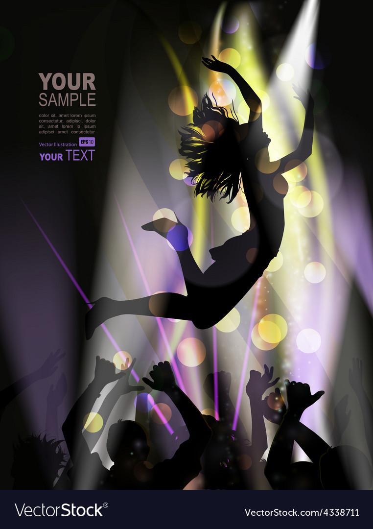 Woman dancing in club vector | Price: 1 Credit (USD $1)