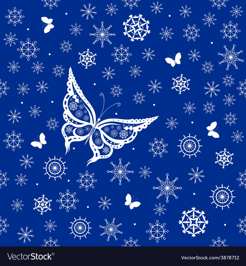 Background of abstract butterflies flying vector | Price: 1 Credit (USD $1)