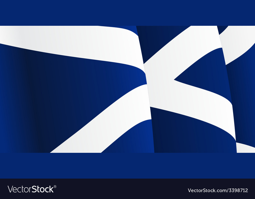 Background with waving scottish flag vector | Price: 1 Credit (USD $1)