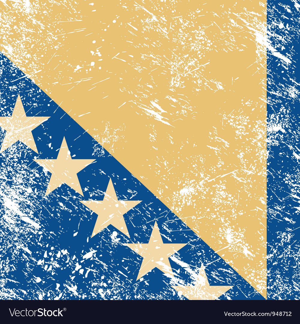 Bosnia and herzegovina retro flag vector | Price: 1 Credit (USD $1)