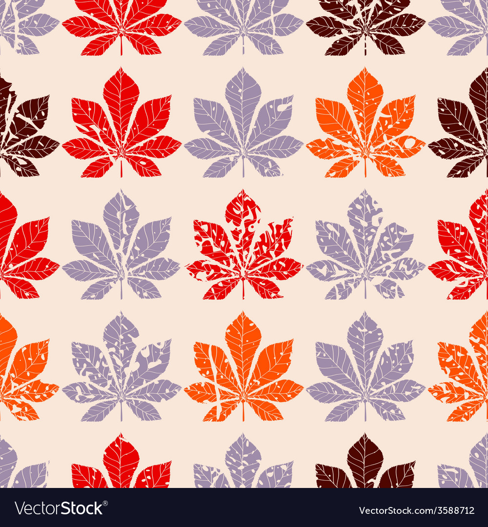Decorative chestnut pink leaves - silhouette vector | Price: 1 Credit (USD $1)