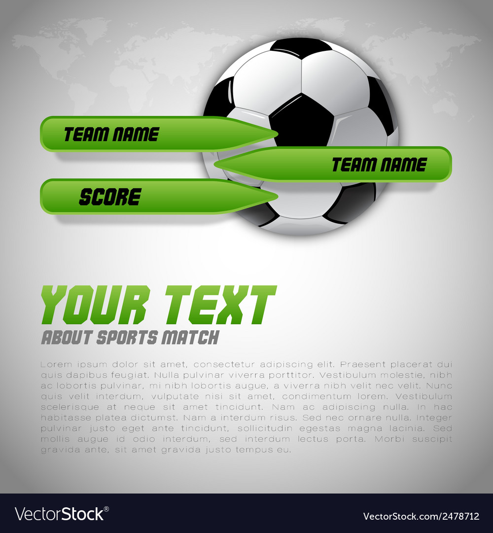Football score green buttons vector | Price: 1 Credit (USD $1)