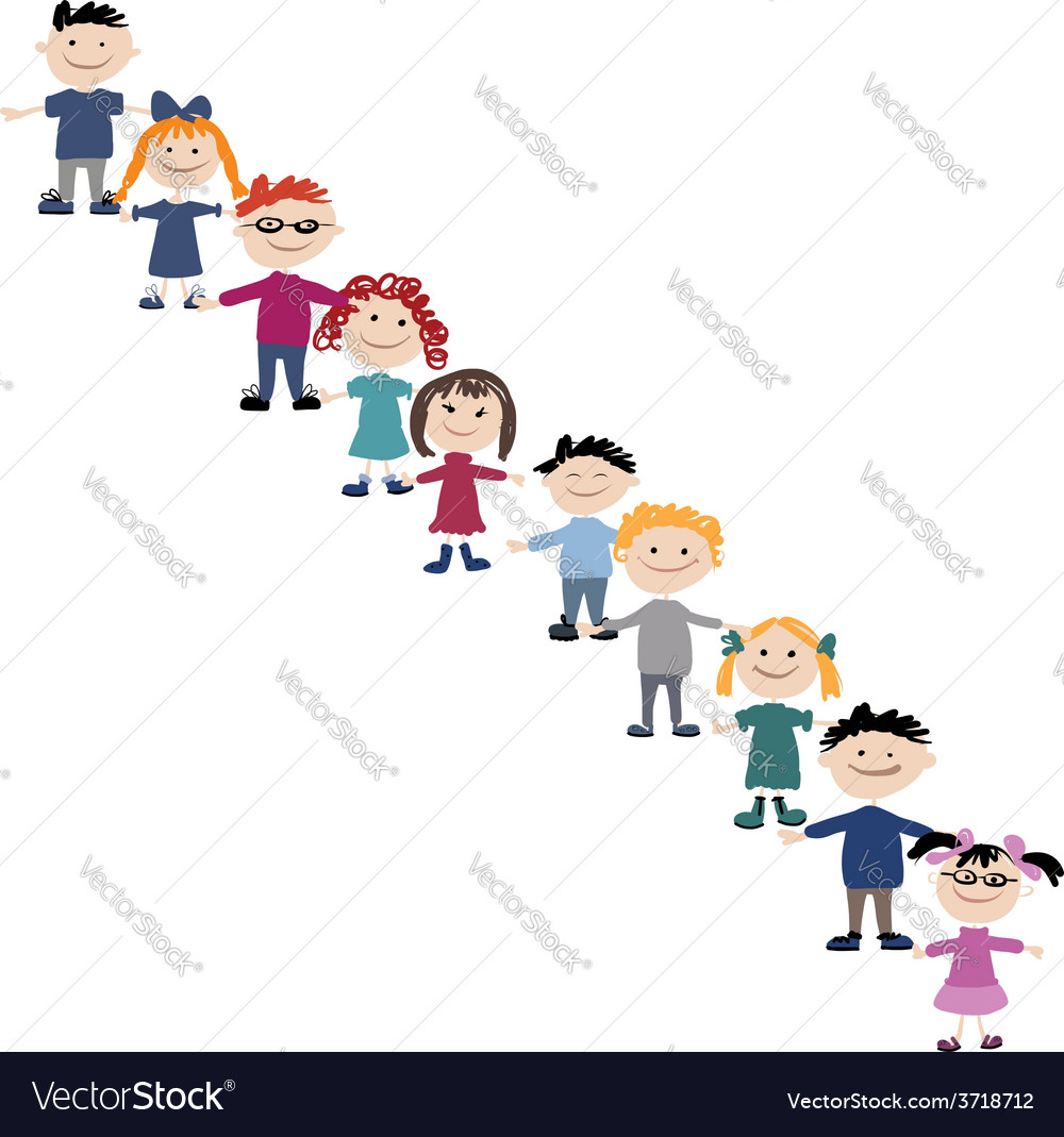 Funny children sketch for your design vector | Price: 1 Credit (USD $1)