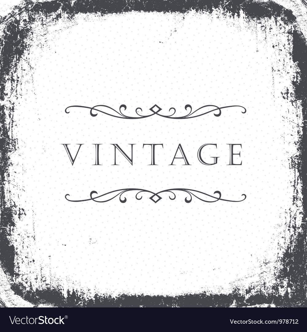 Grunge frame background with sample text vector | Price: 1 Credit (USD $1)