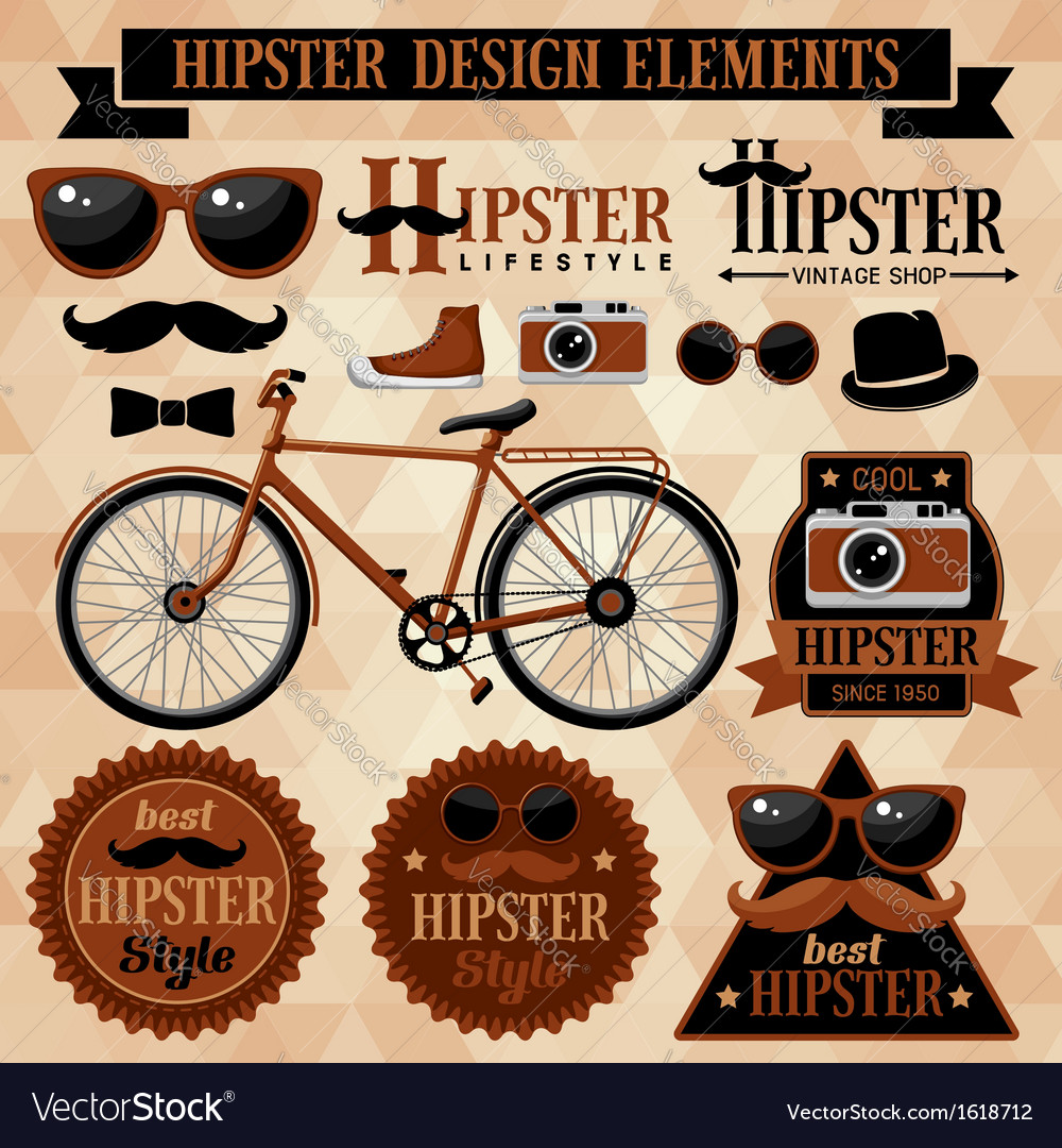 Hipster elements vector | Price: 1 Credit (USD $1)