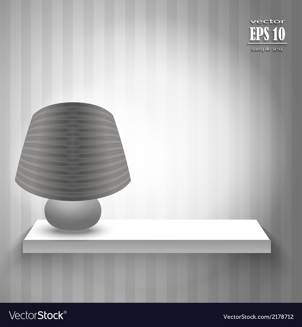 Lamp on the shelf vector | Price: 1 Credit (USD $1)