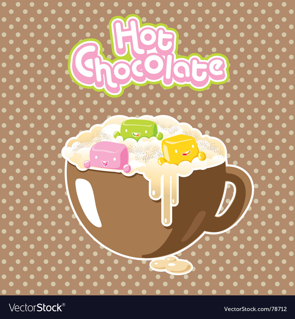 Marshmallow hot chocolate vector | Price: 1 Credit (USD $1)