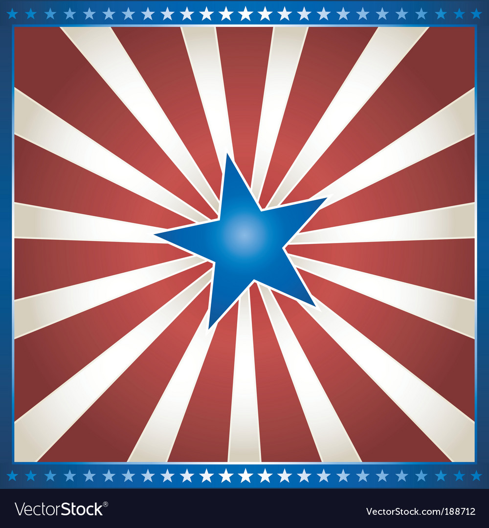Star burst in usa colors vector | Price: 1 Credit (USD $1)