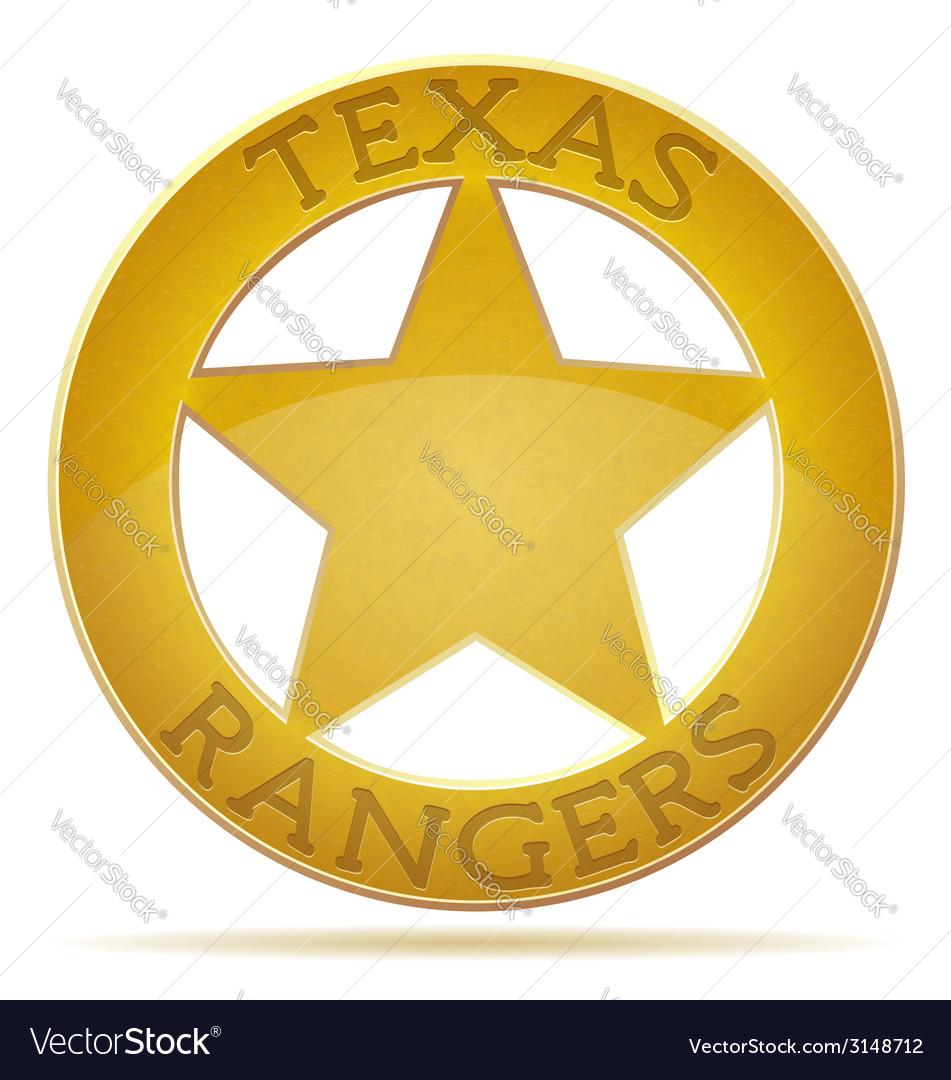 Star texas ranger vector | Price: 1 Credit (USD $1)