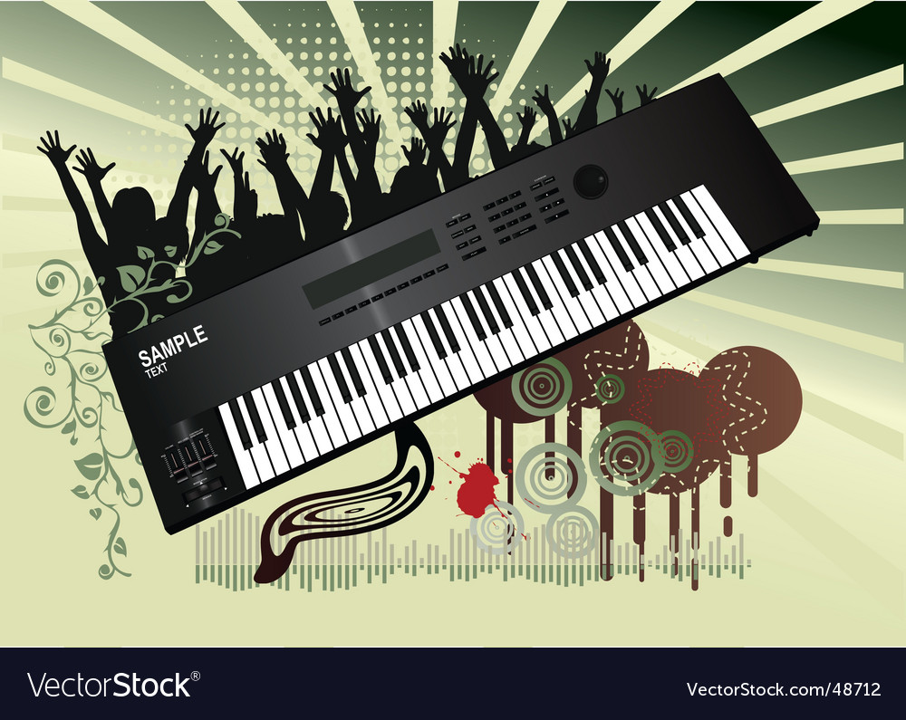 Synthesizer background vector | Price: 1 Credit (USD $1)