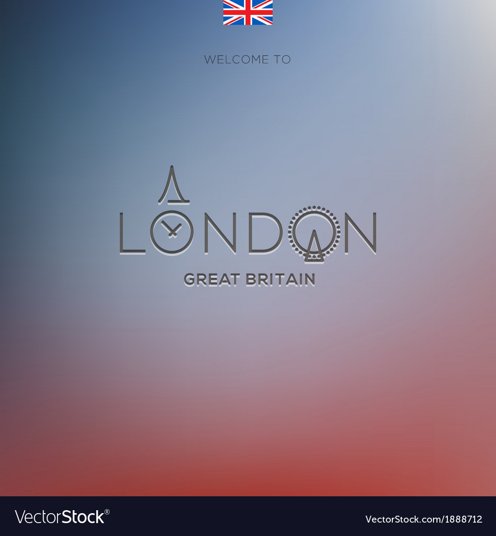 World cities labels - london vector | Price: 1 Credit (USD $1)