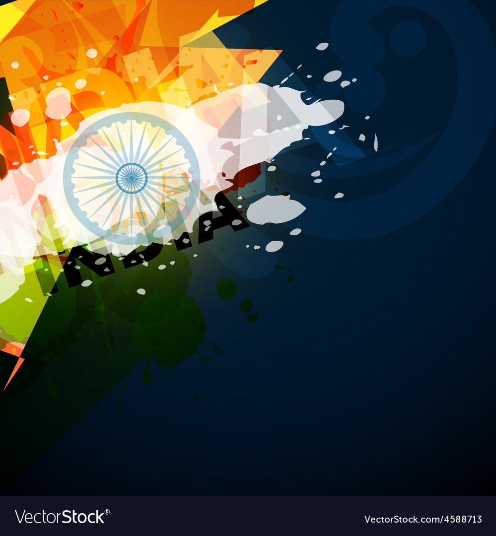Abstract indian flag vector | Price: 1 Credit (USD $1)