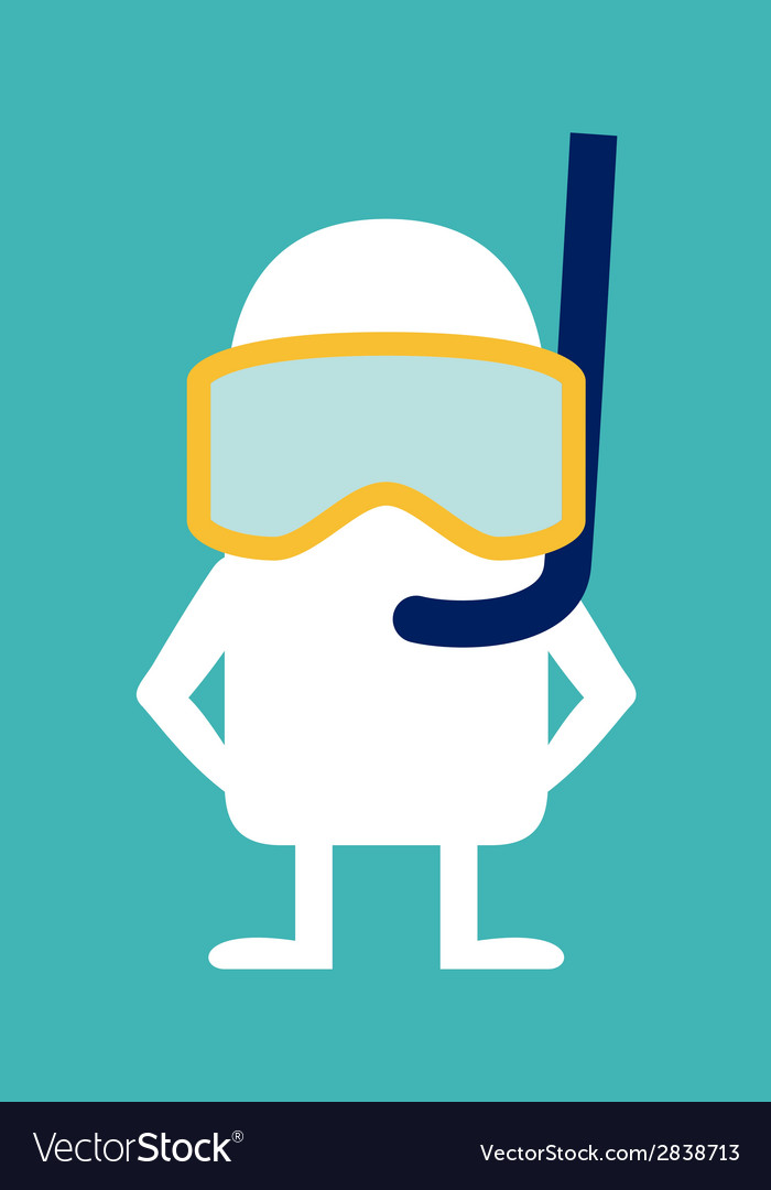 Animated personality diver vector | Price: 1 Credit (USD $1)