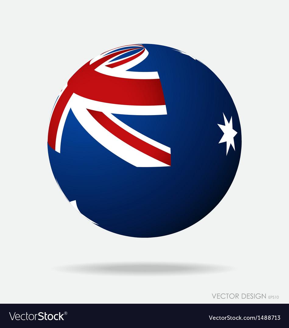 Australia flag vector | Price: 1 Credit (USD $1)