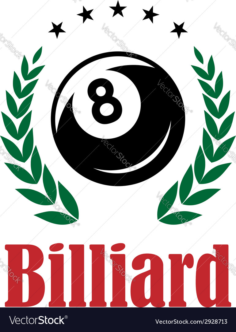 Billiards and snooker emblem vector | Price: 1 Credit (USD $1)