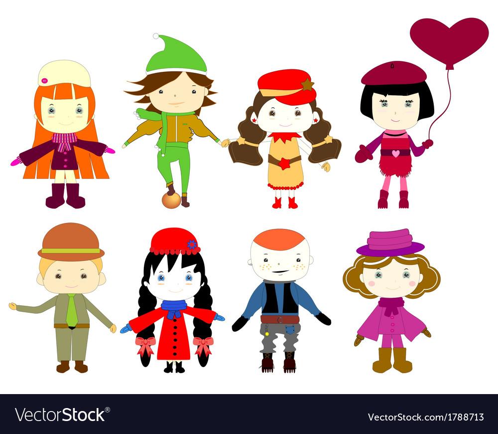 Cartoon drawings of children vector | Price: 1 Credit (USD $1)