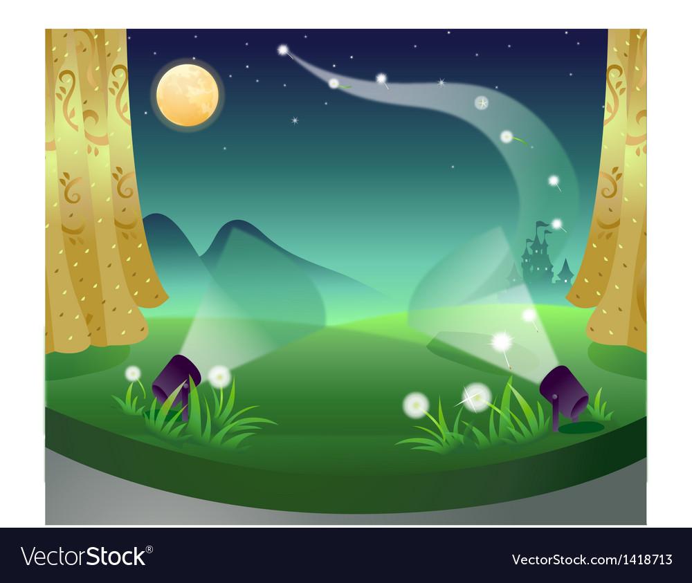 Castle fantasy stage vector