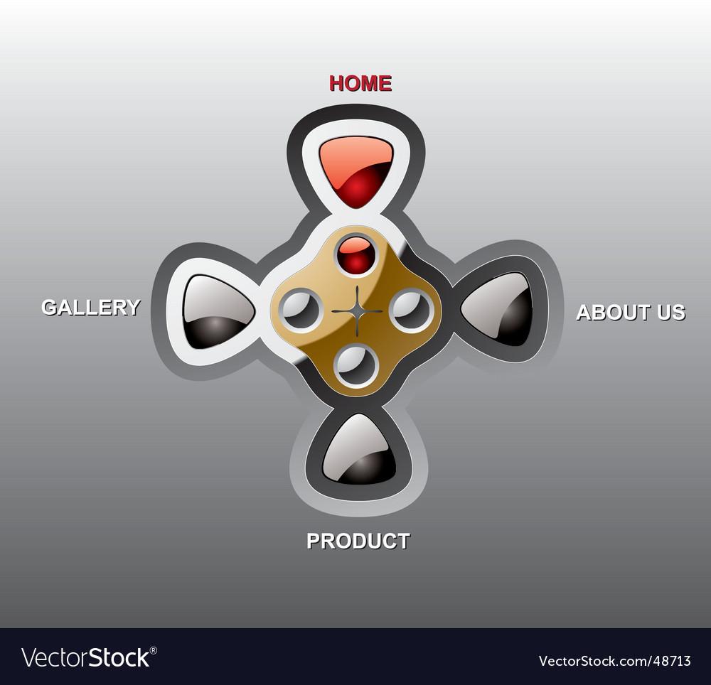 Console website template vector | Price: 1 Credit (USD $1)