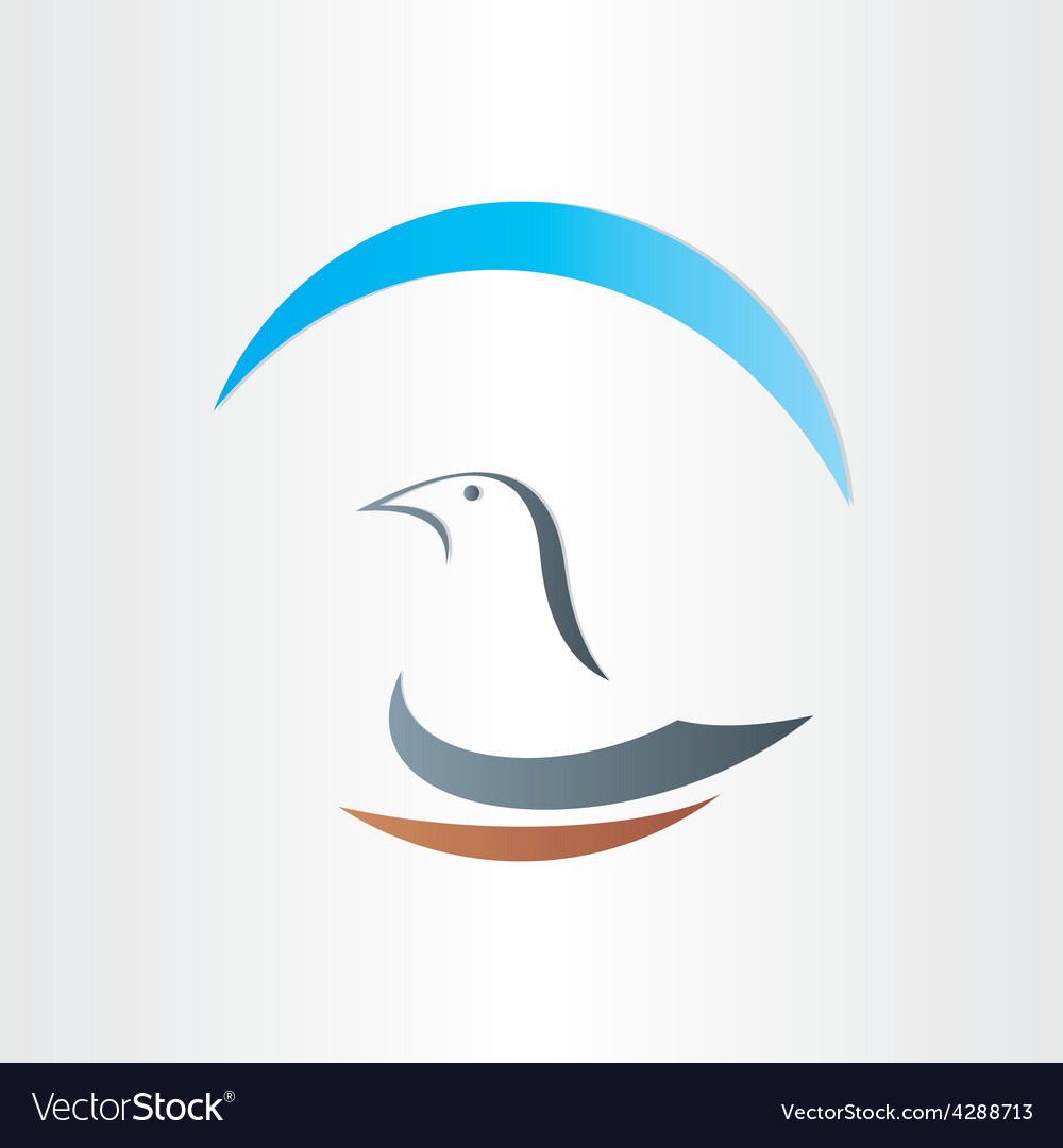 Dove freedom symbol abstract design vector | Price: 1 Credit (USD $1)