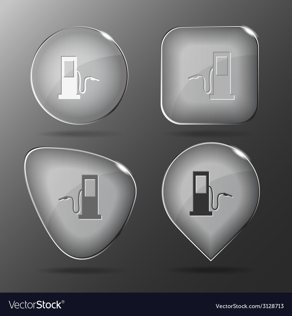 Fueling station glass buttons vector | Price: 1 Credit (USD $1)