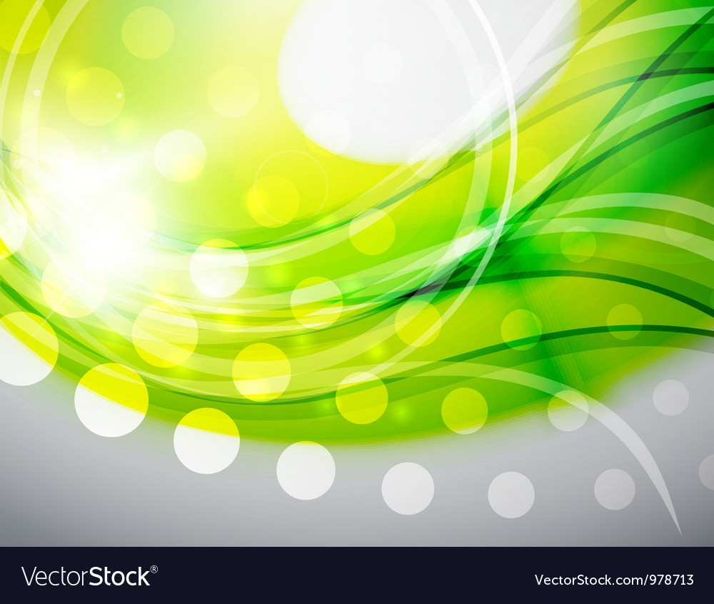 Green abstract wave background vector | Price: 1 Credit (USD $1)