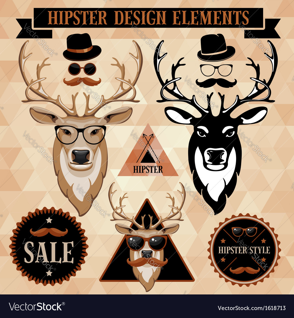 Hipster elements vector | Price: 3 Credit (USD $3)