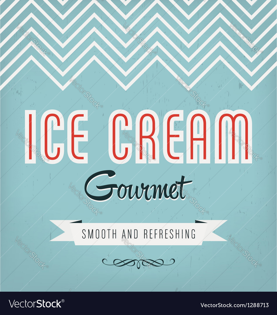 Ice cream label vector | Price: 1 Credit (USD $1)