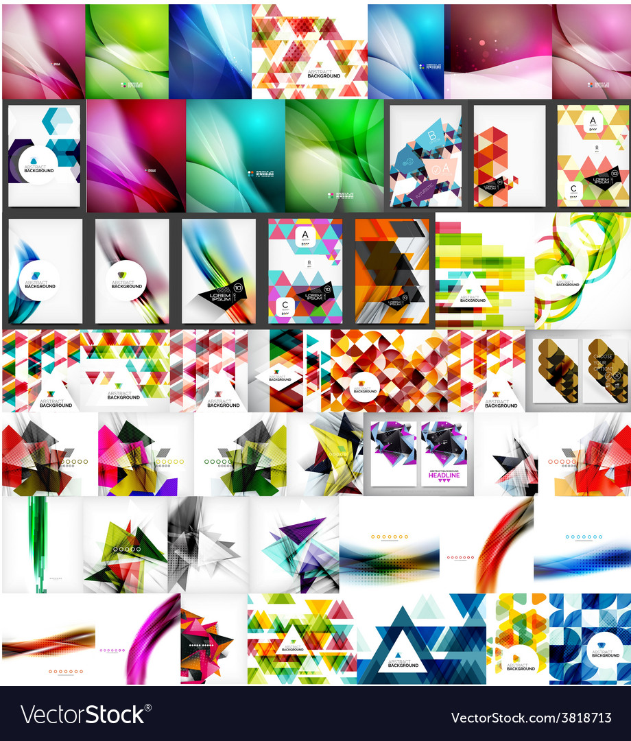 Large super set of abstract backgrounds vector | Price: 1 Credit (USD $1)