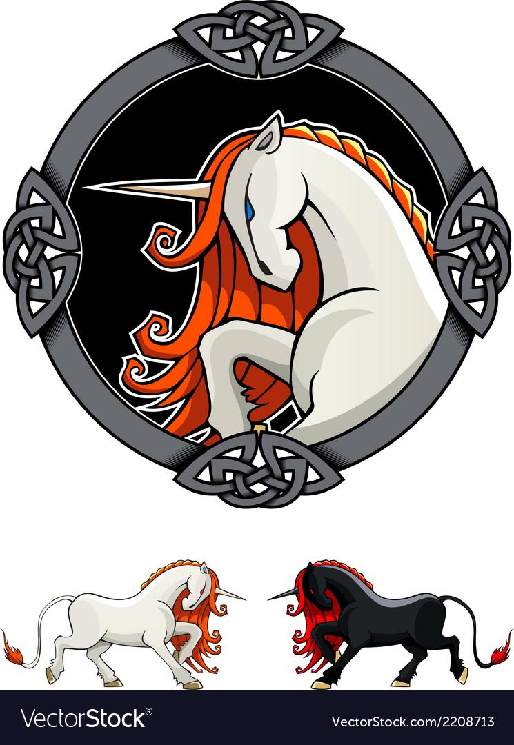 Mythical unicorn vector | Price: 1 Credit (USD $1)