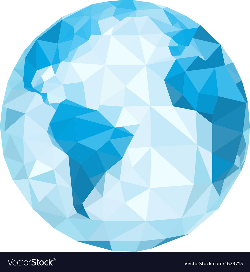 Polygonal globe vector | Price: 1 Credit (USD $1)
