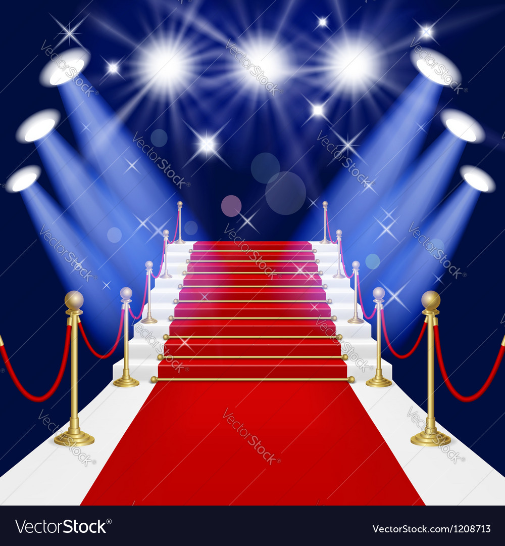 Red carpet with ladder vector | Price: 1 Credit (USD $1)