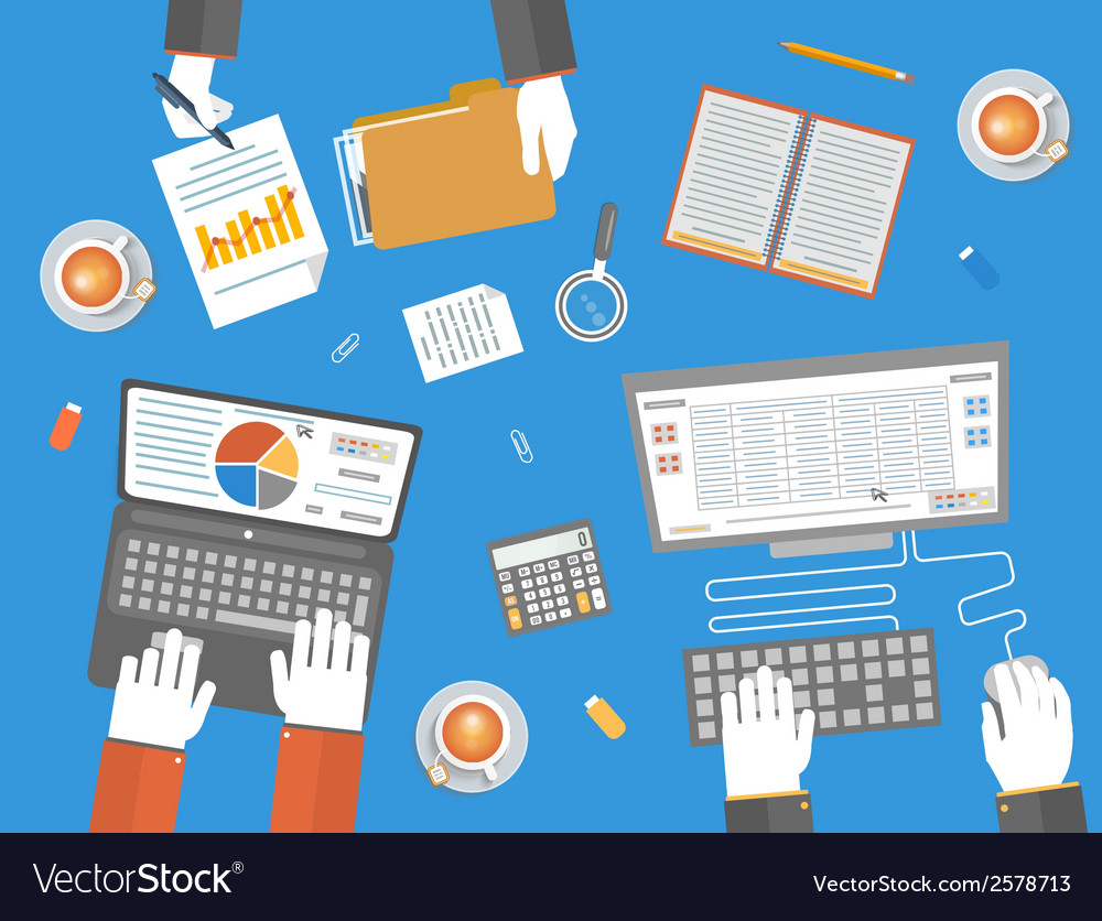 Teamwork business concept vector | Price: 1 Credit (USD $1)