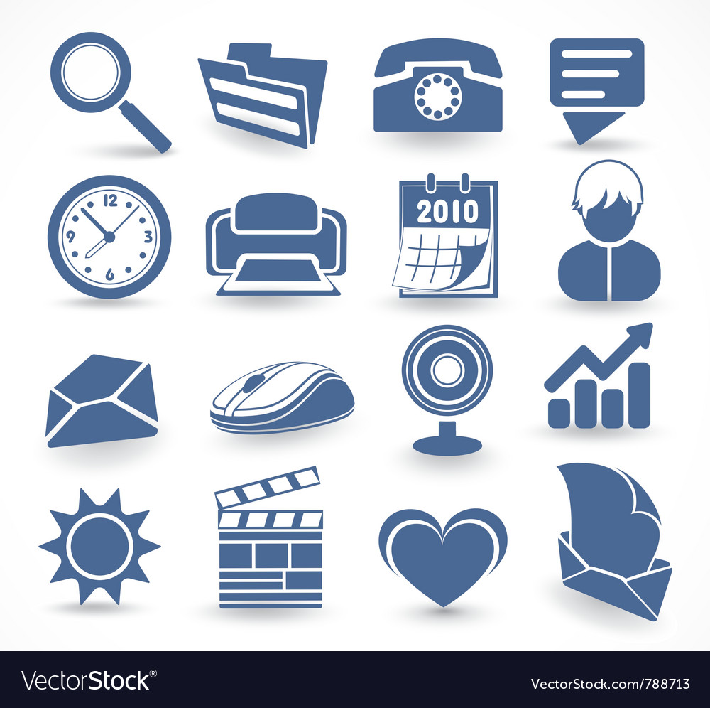Technology set of icons vector | Price: 1 Credit (USD $1)
