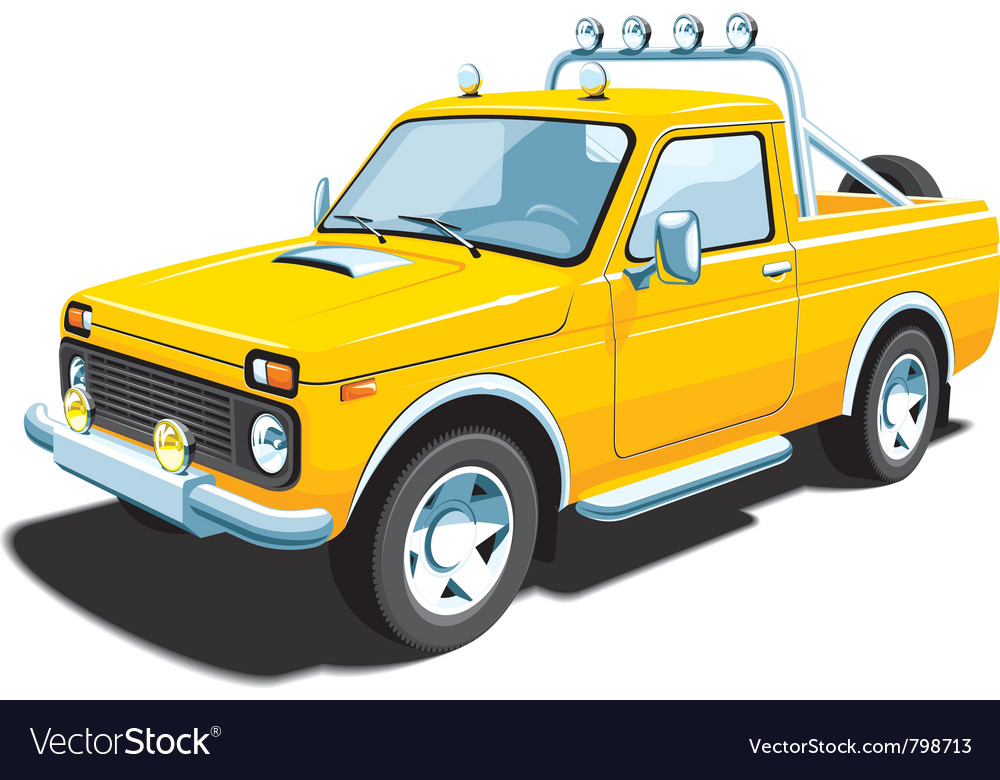 Yellow off-road vehicle vector | Price: 3 Credit (USD $3)