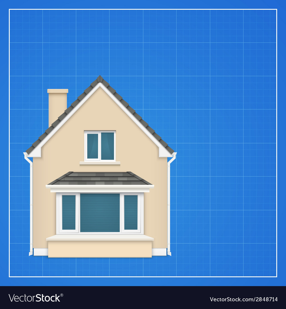 Architecture background with detailed house on a vector | Price: 1 Credit (USD $1)