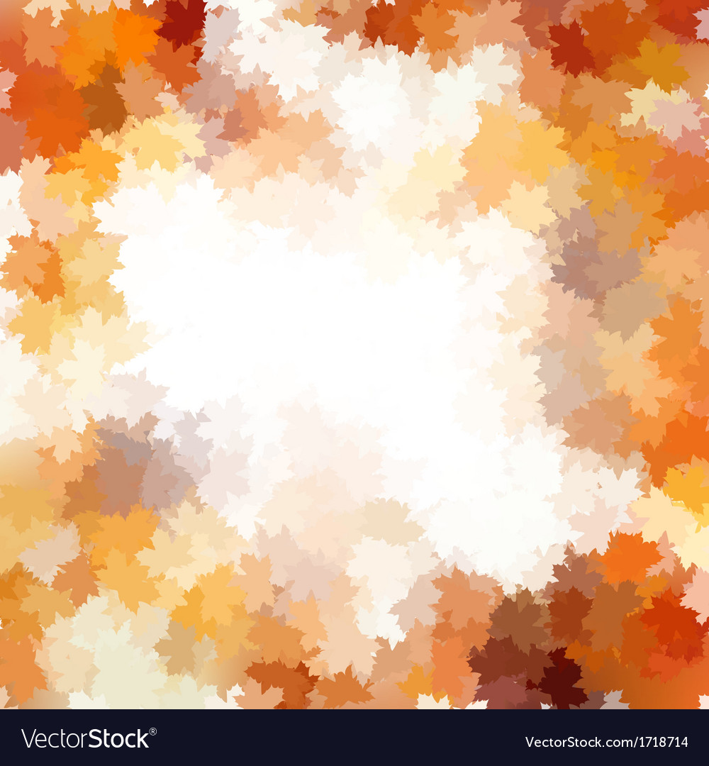Card on autumn leaves texture eps 10 vector | Price: 1 Credit (USD $1)