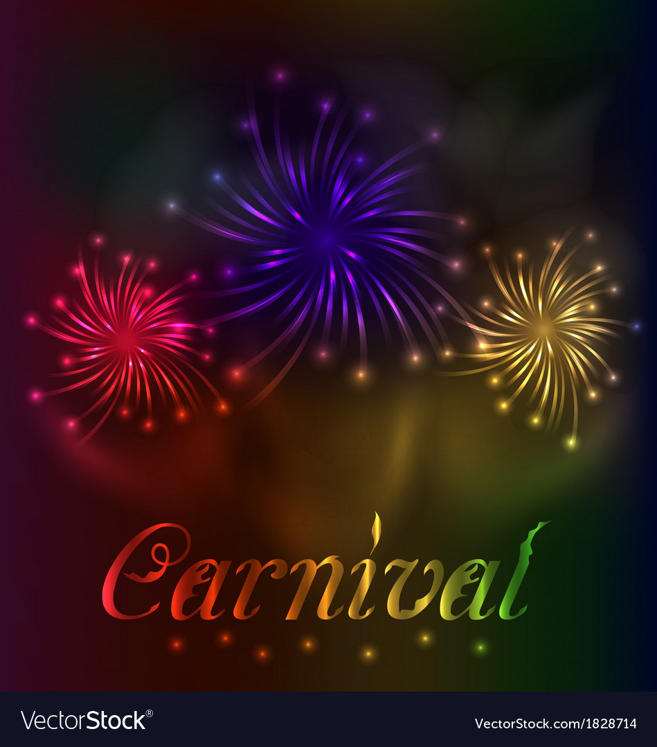 Colorful fireworks background for carnival party vector | Price: 1 Credit (USD $1)