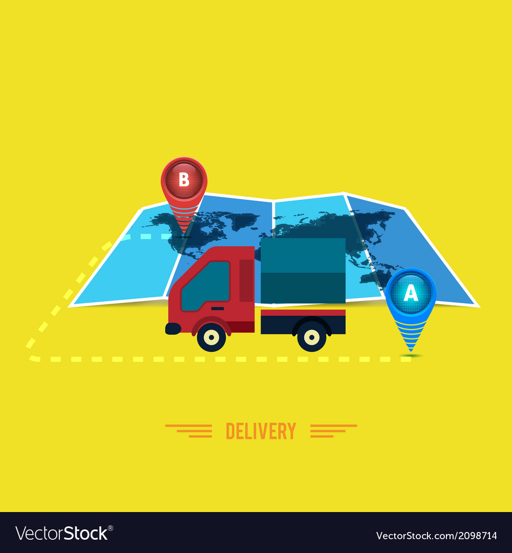 Delivery service 24 hours  cargo truck symbol vector | Price: 1 Credit (USD $1)