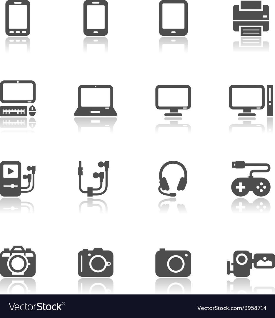 Electronic devices icons vector | Price: 1 Credit (USD $1)