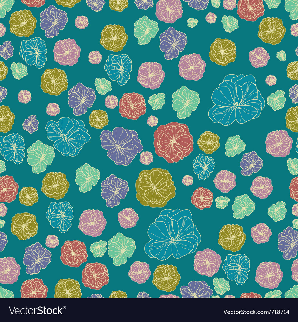 Floral botany pattern vector | Price: 1 Credit (USD $1)