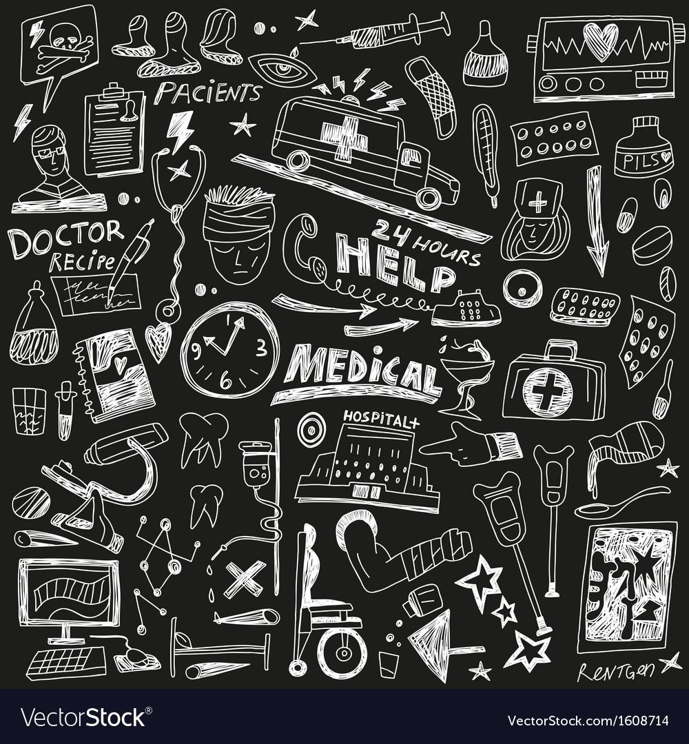 Medicine - doodles set vector   Price: 1 Credit (USD $1)